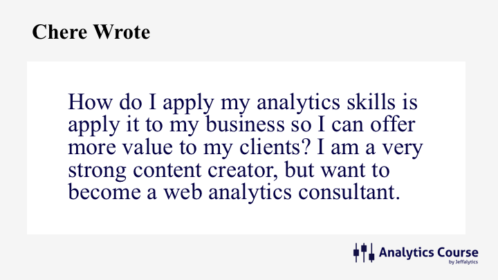 How do I become a web analytics consultant