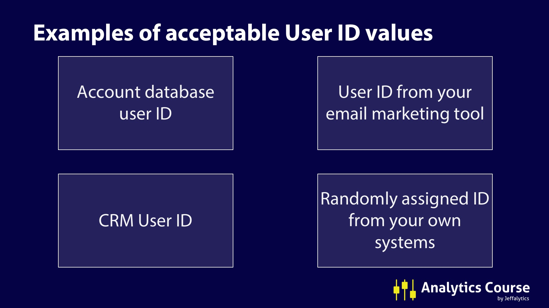 new User IDs in cross device tracking