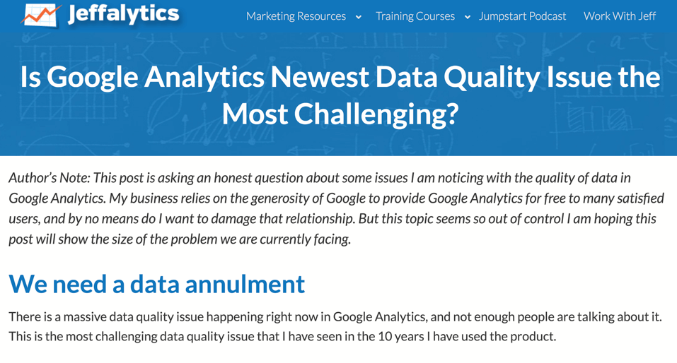 Is Google Analytics Newest Data Quality Issue the Most Challenging